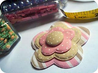 Atelier - Boutique D' Caroline: PAP flor de tecido sem costura