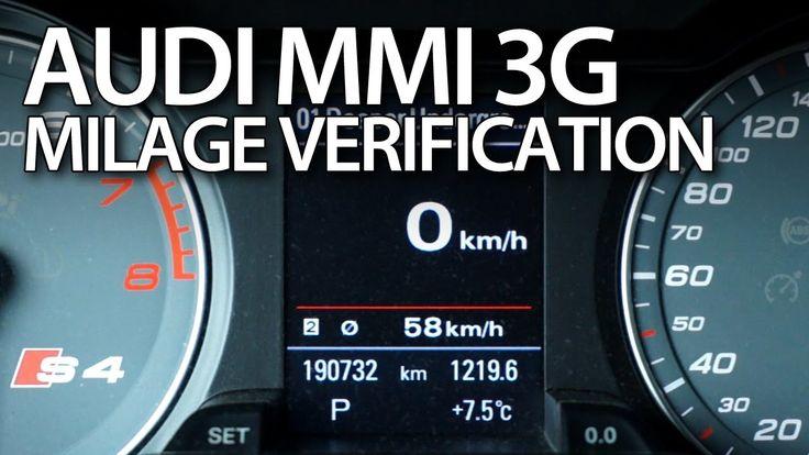 How to check correct #milage in #Audi #MMI 3G #A1 #A4 #A5 #A6 #A7 #A8 #Q3 #Q5 #Q7 #cars