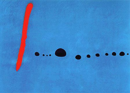 Joan Miro Famous Paintings | Joan Miro | Blue II, 1961