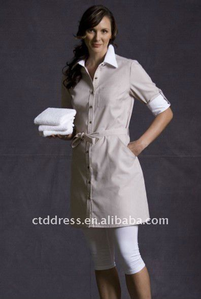New style cotton Cleaning Uniforms Housekeeping Custom Made by CTD