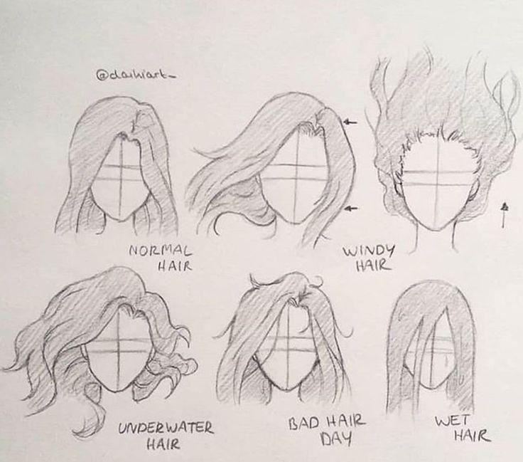 Hair Drawing Tutorial Blog Art Drawings Sketches Drawings Pencil Art Drawings