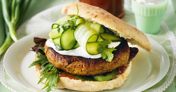 You don't need meat to make a great-tasting burger, just a can of lentils and a few simple extras.