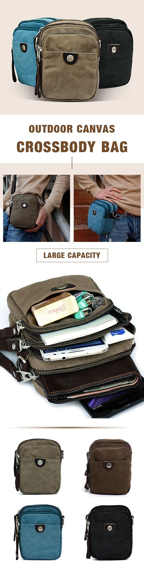 US$26.81 Canvas Large Capacity Outdoor Crossbody Bag Waist Bag For Men#bag #mensfashion #ThanksgivingRecipes