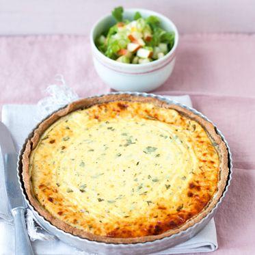 Schweizer Käsewähe zu Birnensalat Rezept   Küchengötter
