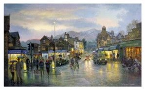 Ambleside by Twilight Signed Print by Graham Twyford