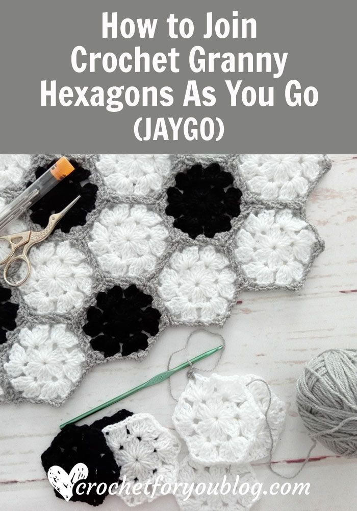 How to Join Crochet Granny Hexagons As You Go (JAYGO) | Articles ...