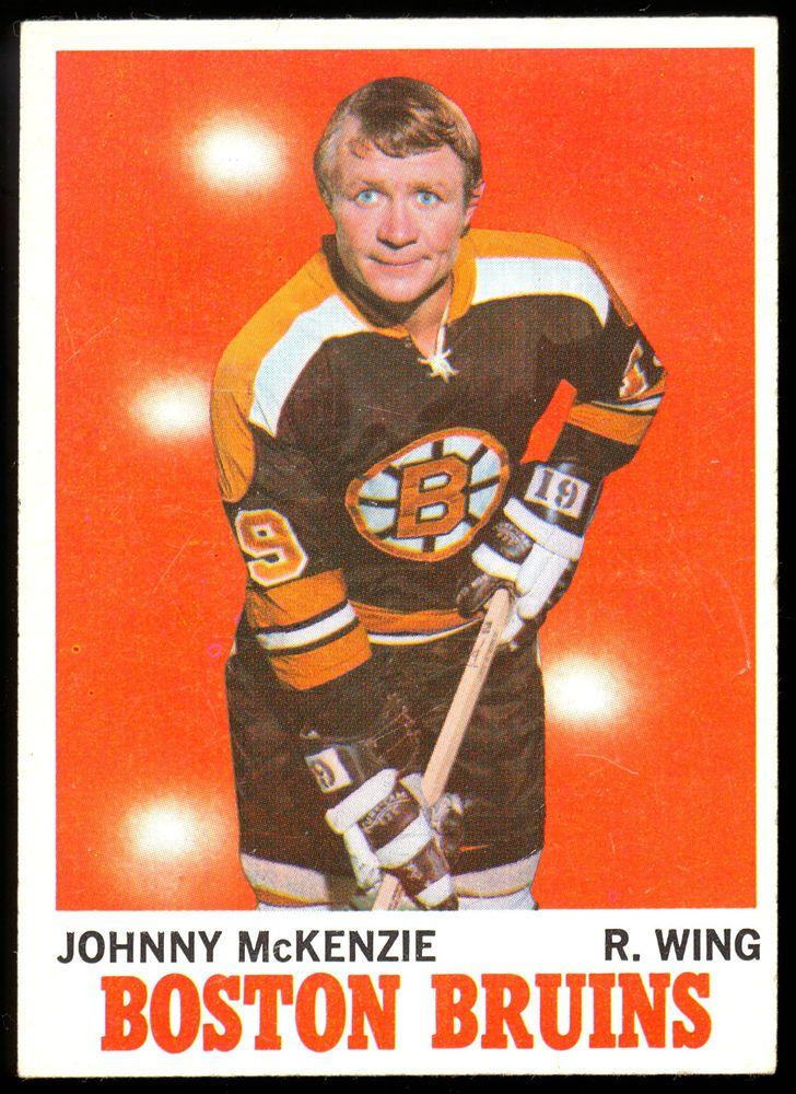 1970 71 TOPPS HOCKEY #6 JOHNNY MCKENZIE EX-NM BOSTON BRUINS CARD FREE SHIP USA #BostonBruins