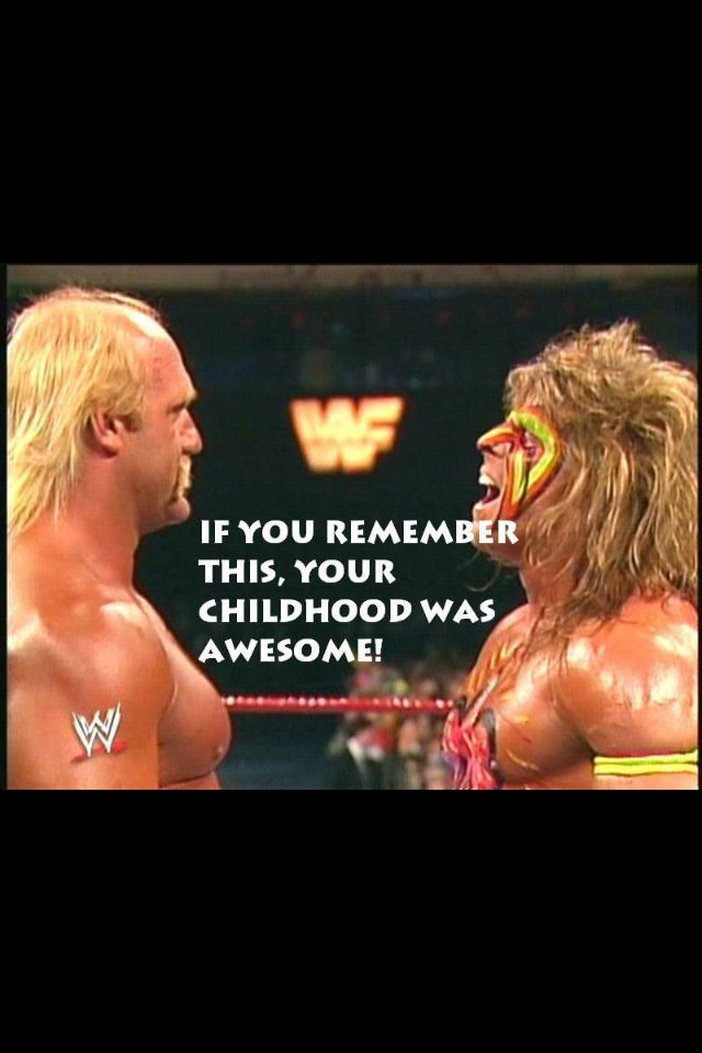 Hulk & Ultimate Warrior. I have to say, the Ultimate Warrior was my favorite!