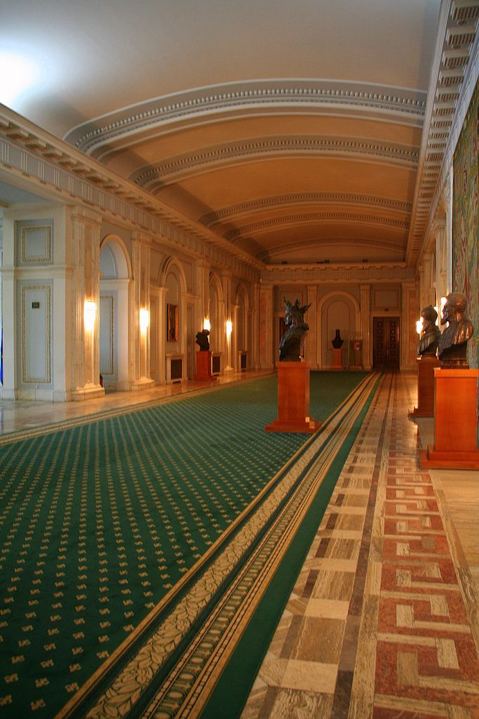 Hallway, Palace of Parliament, Bucharest, Romania