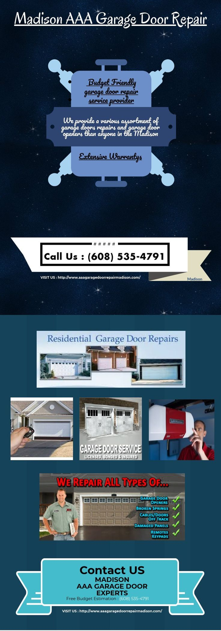 #Garage_Door_Repair_Madison_WI  #Garage_Door_Spring_Repair_Madison  Contact us anytime for free budget estimation.