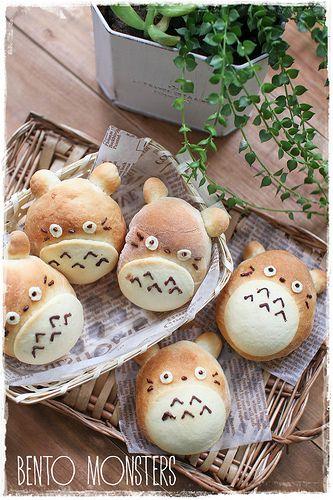 Bento, Monsters: Totoro Bread Bun