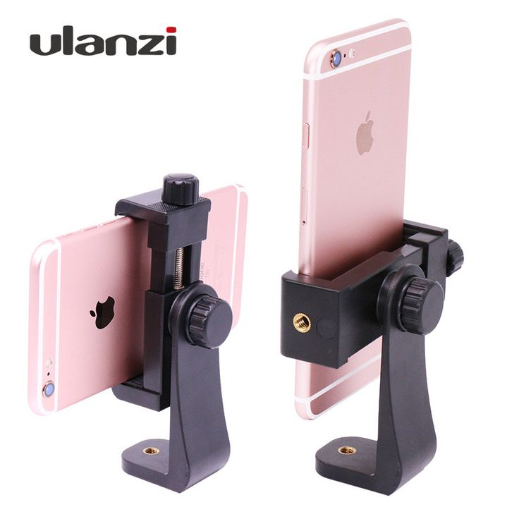 Ulanzi Tripod Mount/Cell Phone Clipper Vertical Bracket Smartphone Clip Holder 360 Adapter for iPhone Facebook Live Stream Vlog