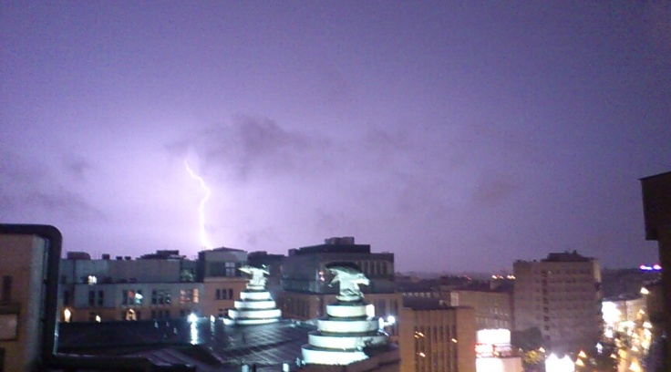 Storm over Warsaw...