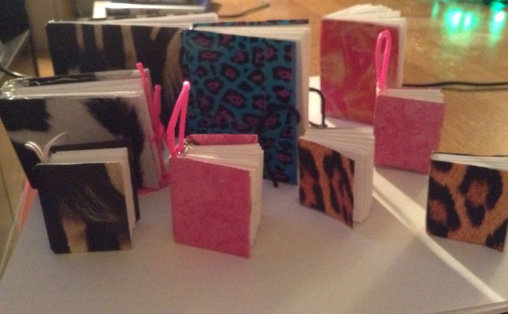 I made mini books and mini keychain books.