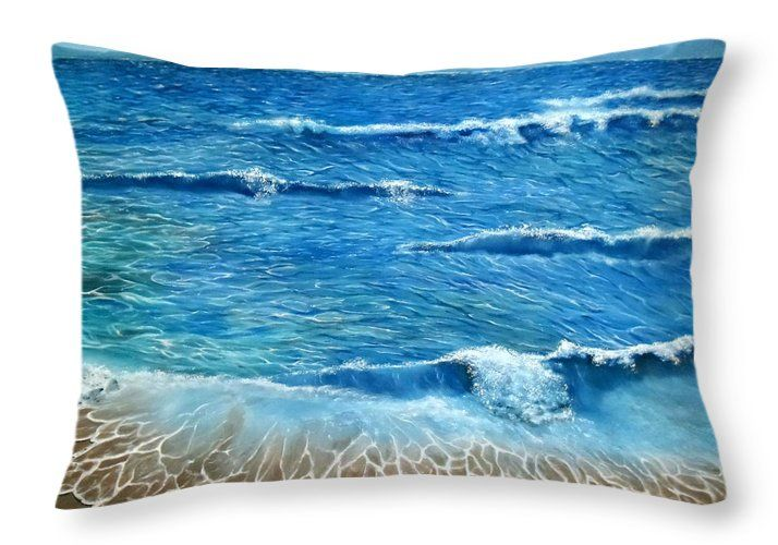 Throw Pillow,  home,accessories,sofa,couch,bedroom decor,cool,beautiful,fancy,unique,trendy,artistic,awesome,fahionable,unusual,gifts,presents,for,sale,design,ideas,blue,coastal,sea,waves