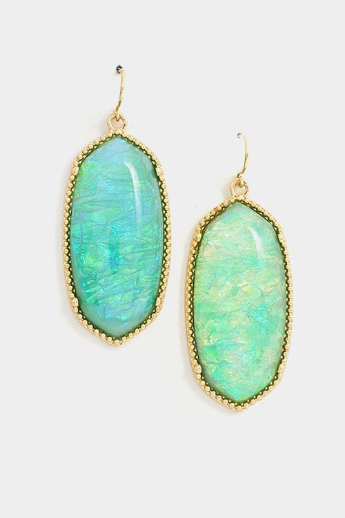 Oval Statement Earring