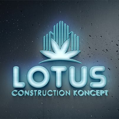 Realizare design Logo 3D Lotus Construction