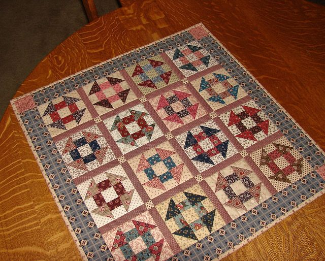 Churn Dash doll quilt by Norbethc, via Flickr