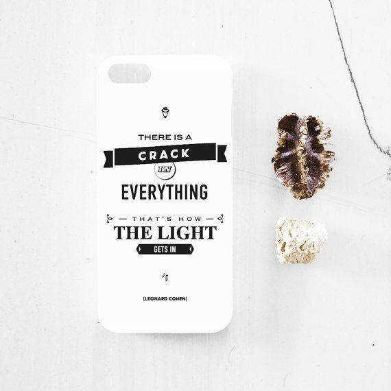 Leonard Cohen quote iPhone 5  5s case iphone 44s by MessProject, €13.00 #design #typography #quote #case #iphonecase #blackandwhite #inspirational #motivational #motto #cohen #leonardcohen