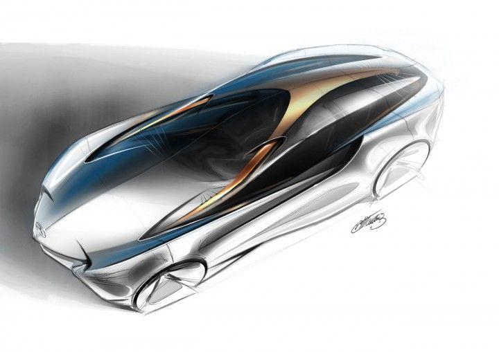 Mercedes-Benz Aria Concept Design Sketch from the Design Sketch Board http://www.carbodydesign.com/design-sketch-board/