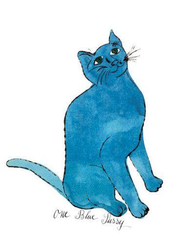 One Blue Pussy - Warhol. easyart.com