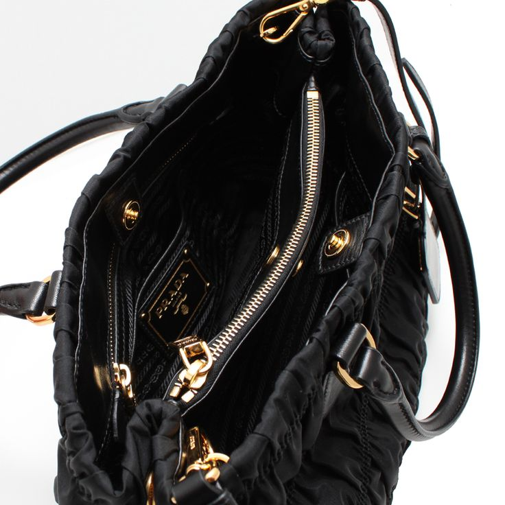 e9f519342b3a ... netherlands 330102 prada b2587l tessuto nylon gaufre bag black 6c954  bb047