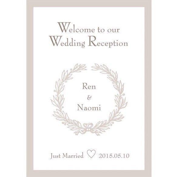 A4 5点セット ウェディングリース ウェルカムボード 指紋アート 結婚証明書