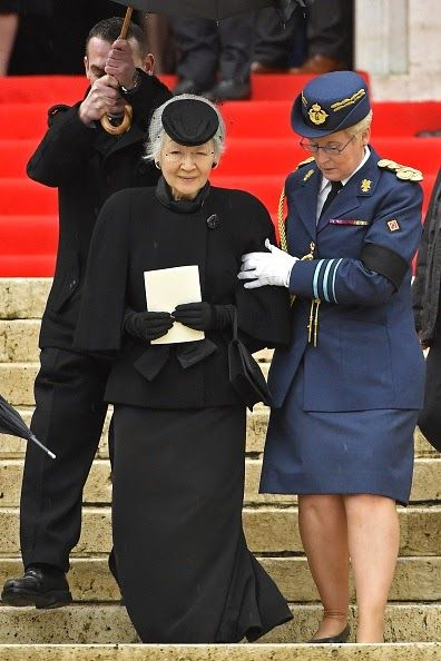 Japanese Empress Michiko Funeral Service of the late Queen Dowager Fabiola, at the Cathedral of St Michael and St Gudula in Brussels, on December 12, 2014