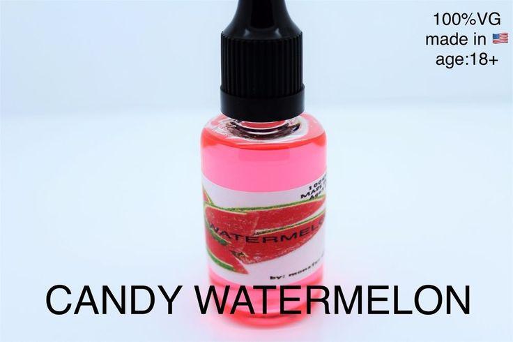 Candy Watermelon 2 x 30ml E-Liquid Vaporizer Juice USA Made No Nicotine80Flavors #vaping21