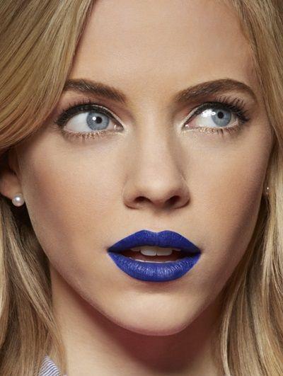 Rossetto blu-occhi blu