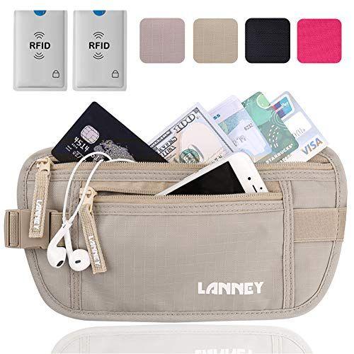 eb2b858c783a Travel Money Belt for Men Women, RFID Blocking Waist Wallet Hidden ...
