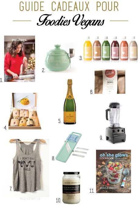 Holiday Gift Guide for the Vegan Foodie on your Life | Guide cadeaux pour les foodies vegans | pasdelatarte.ca