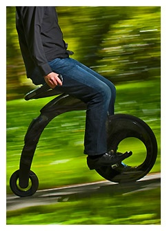YikeBike - electric super light foldable bike. 10km range. 23km top speed. 15 sec fold time. 55 min charge.