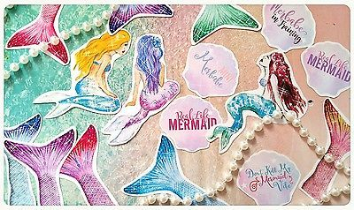 Mermaid Life Stickers,Mermaid Planner stickers,Journal Note Card Decor Scrapbook