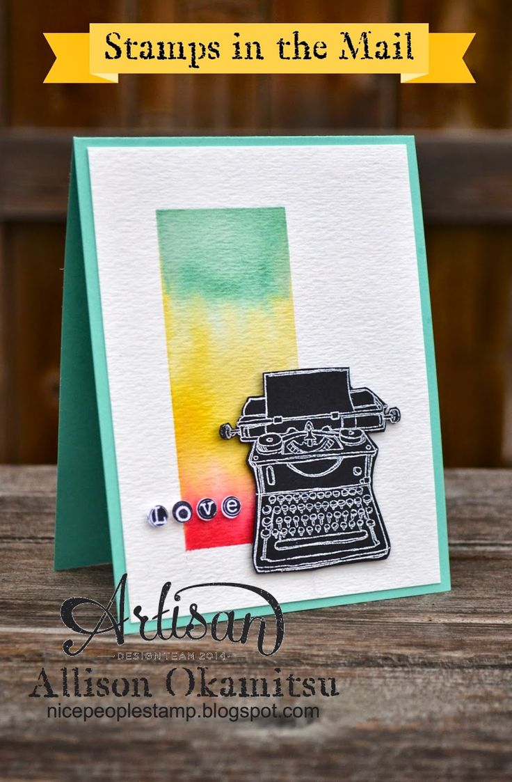 nice people STAMP!: Stamps in the Mail: Round 1, Kit 2 Bonus Project - Watercolouring with Tap, Tap, Tap