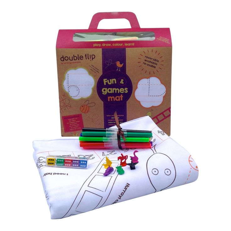 This washable Double Flip Fun & Games Mat is a fab gift for girls age 9 to play with friends or sibling. There is 10 felt pens included too!