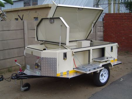 Small Trailers For Camping | custom outdoor camping trailer closed offroad trailer with space for a ...