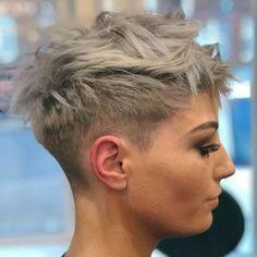 """6,452 Likes, 49 Comments - Hair, Style, Makeup & Fashion (@pixiepalooza) on Instagram: """"From @luigi_monte - Pixie madness on @jessallan23 #hairbyluigialtomonte #hair #pixiecut #pixie…"""""""