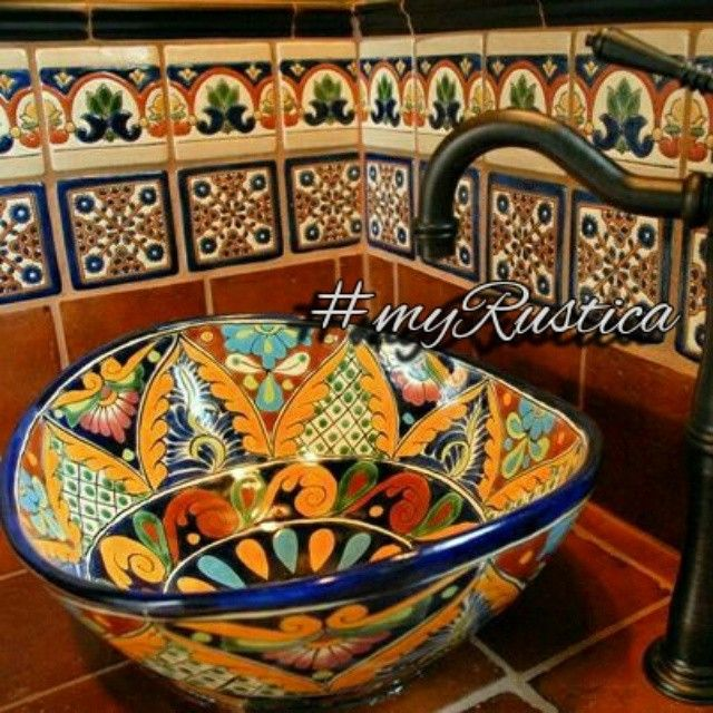 Mexican Sinks Bathroom: 9 Best Mexican Talavera Sinks Images On Pinterest