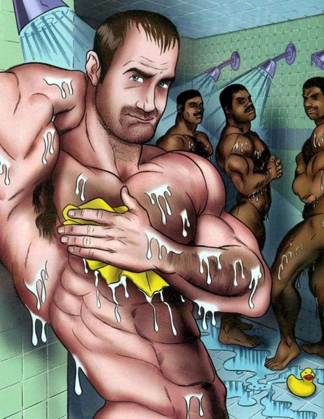 gay cartoon men porn Hot men  oralfucking fotos in conjunction with gay cartoon ready for use restroom porn  CPR.