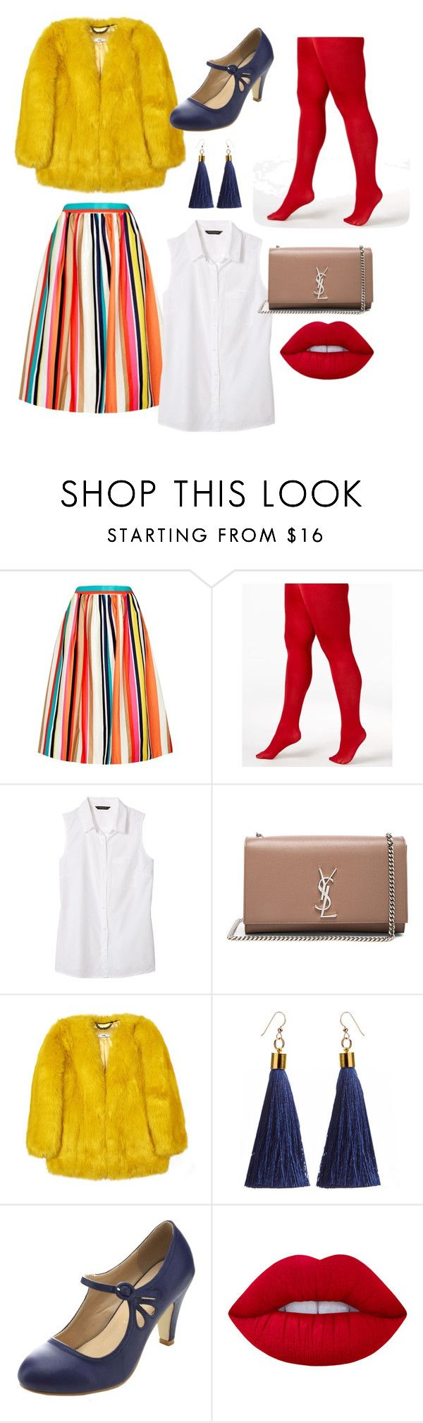 """""""Whimsical."""" by emiam ❤ liked on Polyvore featuring Alice + Olivia, Berkshire, Banana Republic, Yves Saint Laurent, Chase & Chloe and Lime Crime"""