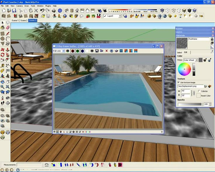 123 best images about sketchup vray on pinterest for Pool design sketchup
