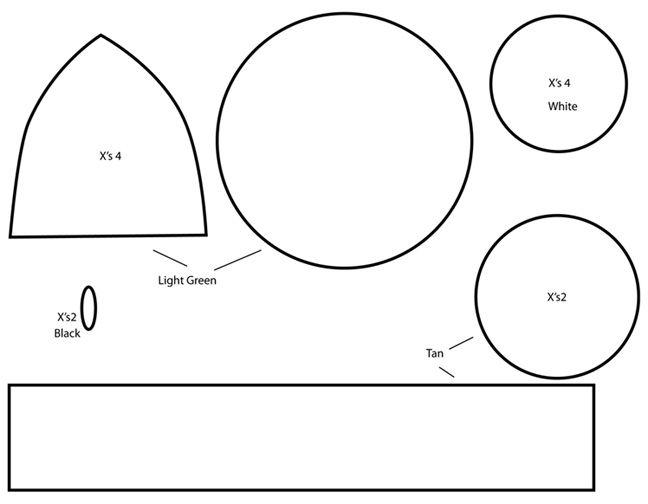 How to make a super mario 1 up mushroom plushie template for Yoshi plush template