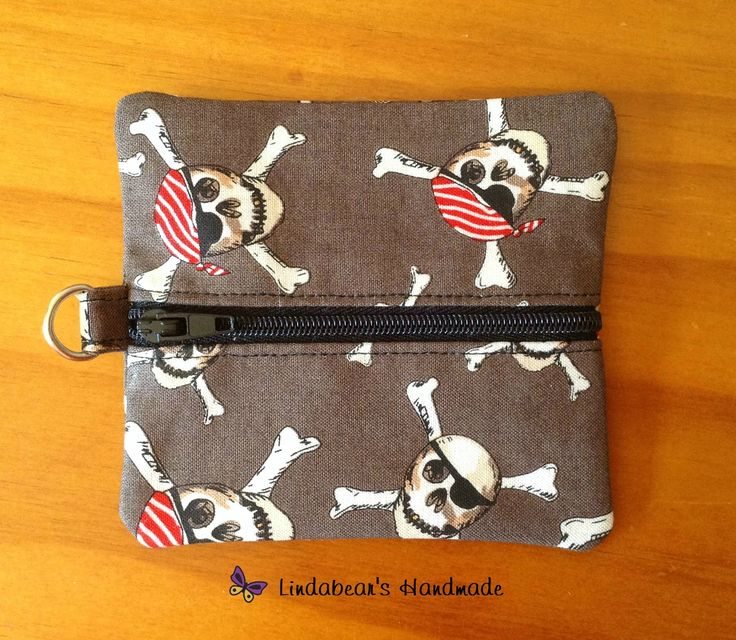 Made by Lindabears Handmade  Grey Pirate Coin Pouch For more information, please visit https://www.facebook.com/HandmadeMarkets