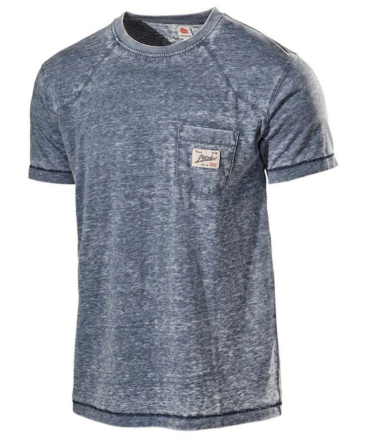 L.Brador T-shirt m. lomme 6002PB, blå