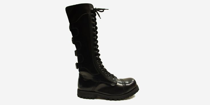 Slayer Steel Cap Boots Black Leather - SPECIAL ORDER