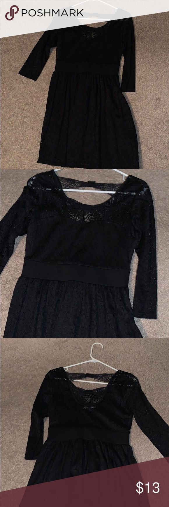 Feb 24, 2020 – Black junior formal dress Beautiful lace black formal dress with lace across the back. Perfect for school…