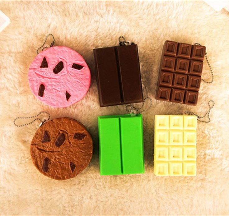 New Cute chocolate series squishy charm / mobile phone strap / retail