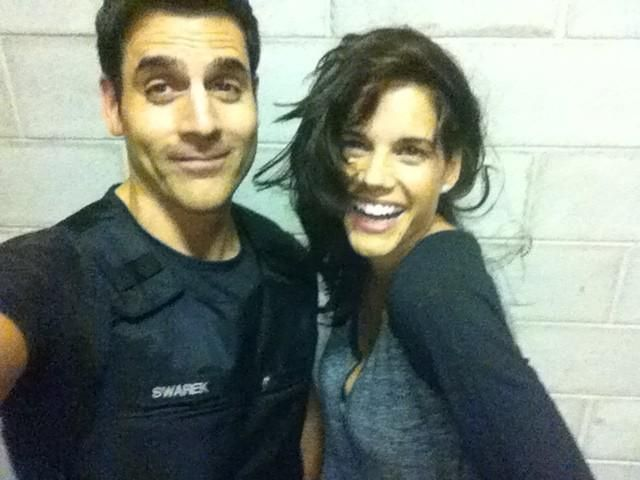 Ben Bass and Missy Peregrym from Rookie Blue! Love this show! two of the main characters from rookie blue