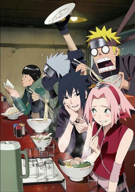 <3 Kakashi, Naruto, Sakura & Sasuke (Team Kakashi / Team 7) with Gai